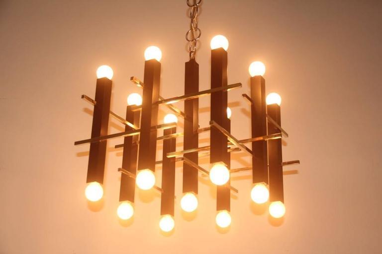 Mid-20th Century Minimal Elegant Ceiling Lamp Sciolari, 1960s, Italian Design For Sale