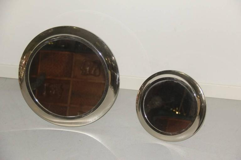 Mid-Century Modern Round Mirrors of Drawers, 1960 Attributed Sergio Mazza For Sale