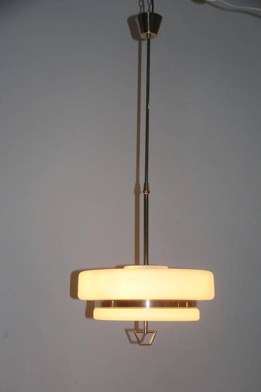 Mid-Century Modern Italian Mid-Century Ceiling Lamp Stilnovo Design For Sale