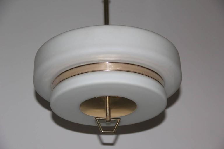 Italian Mid-Century ceiling lamp Stilnovo design.