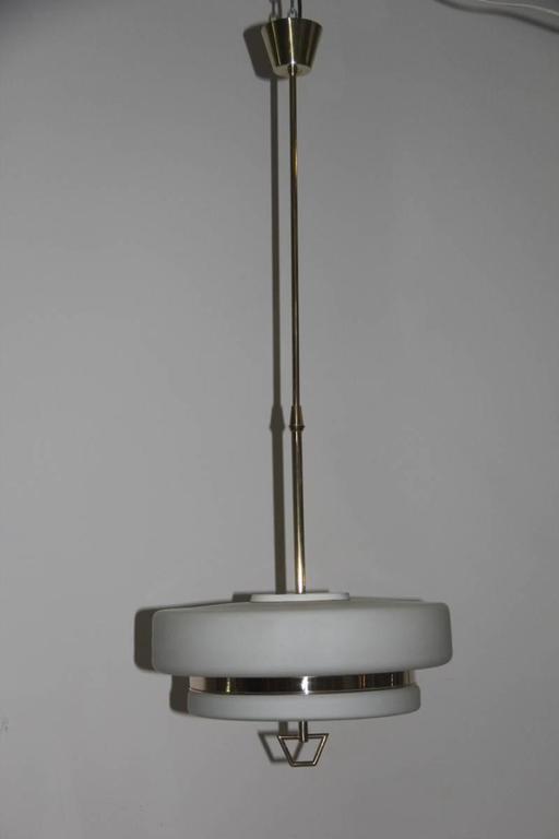 Italian Mid-Century Ceiling Lamp Stilnovo Design For Sale 4