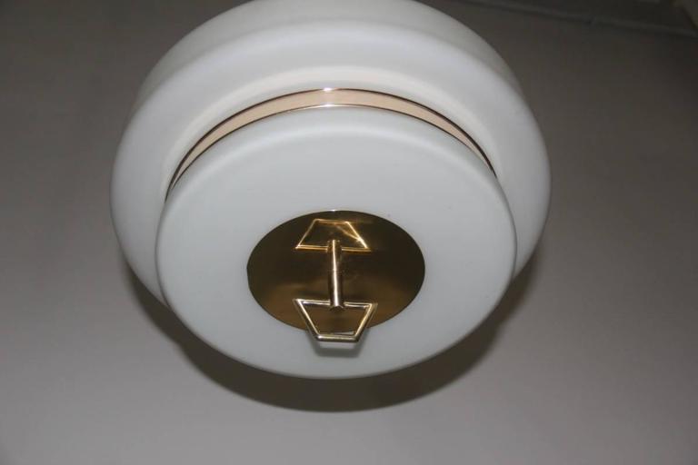 Italian Mid-Century Ceiling Lamp Stilnovo Design For Sale 3
