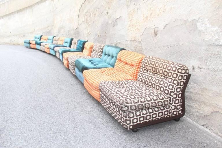 Large Sofa with 13 Armchairs B&B Italy Mario Bellini Multicolor 7