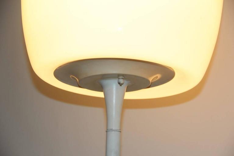 Mid-Century Modern Floor Lamp 1960s Italian Design Murano Glass  For Sale