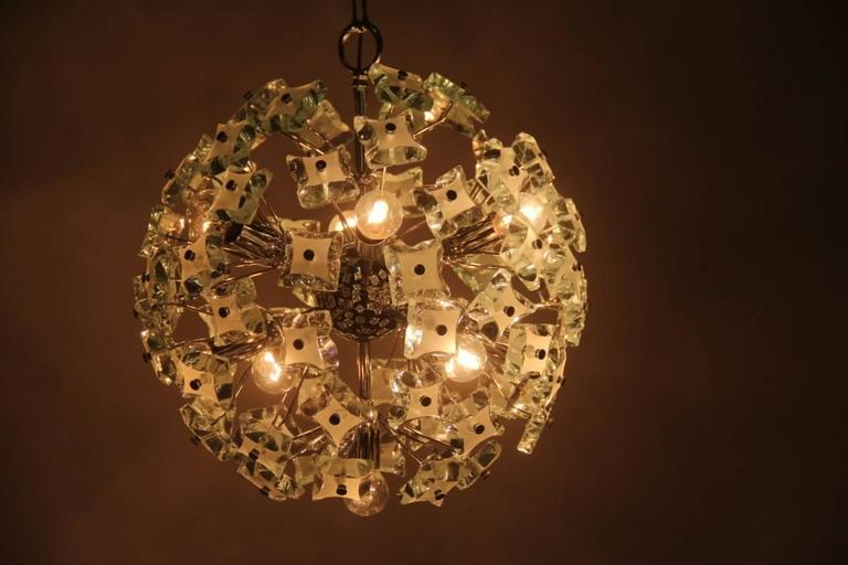 Mid-20th Century Sputnik Ceiling Lamp Italian Design, 1960s For Sale