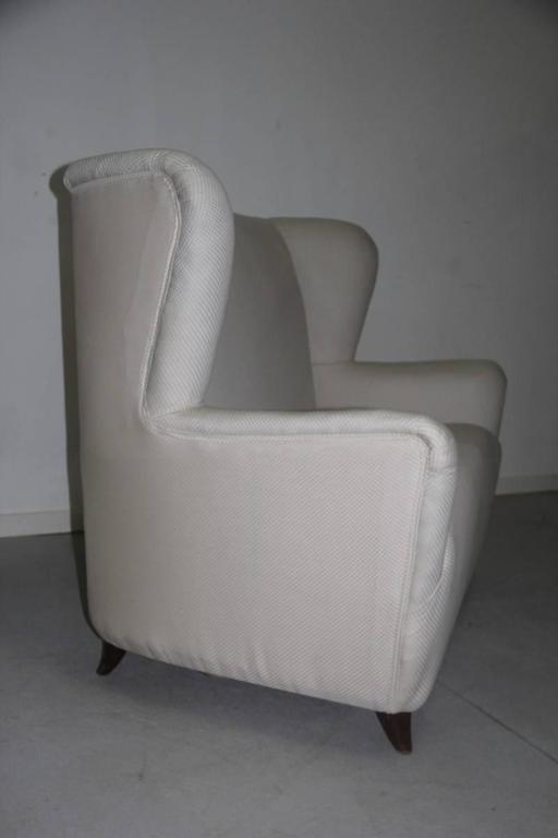 Mid-Century Modern Elegant Small Sofa Guglielmo Ulrich Attributed For Sale