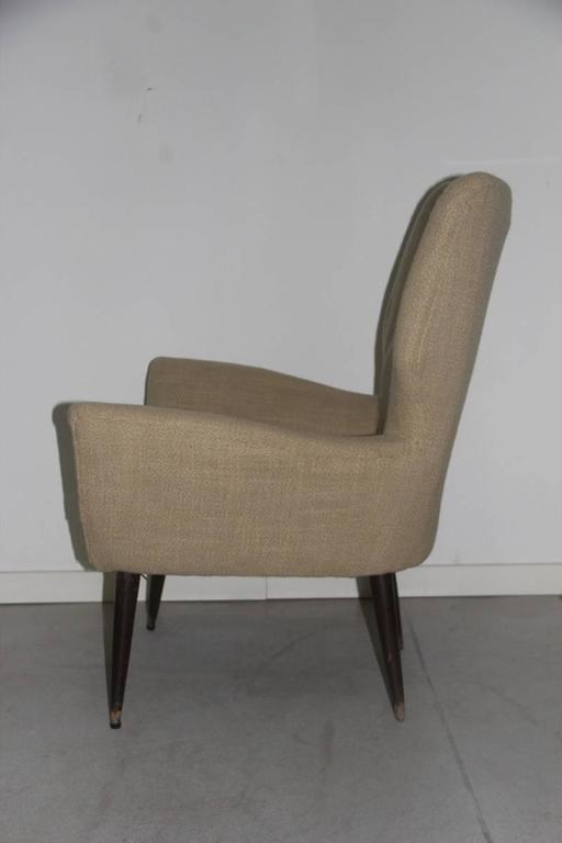 Original Italian Mid-Century armchair, 1950s.