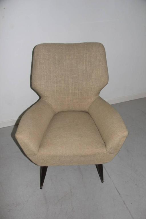 Mid-20th Century Original Italian Mid-Century Armchair, 1950s For Sale