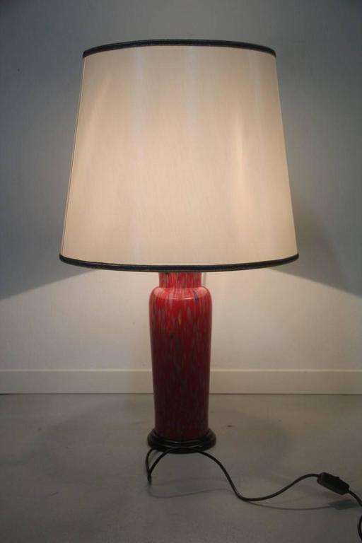 Elegant VeArt Murano art glass table lamp, 1970s.