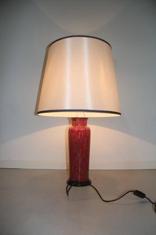 Italian VeArt Murano Art Glass Table Lamp, 1970s For Sale