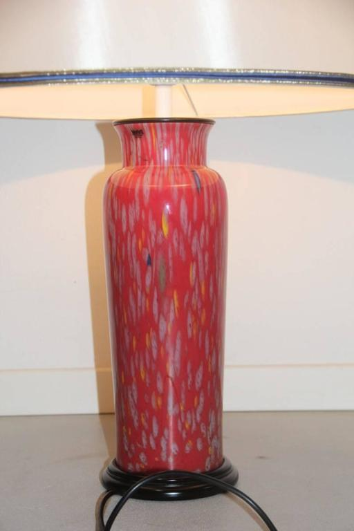 Late 20th Century VeArt Murano Art Glass Table Lamp, 1970s For Sale