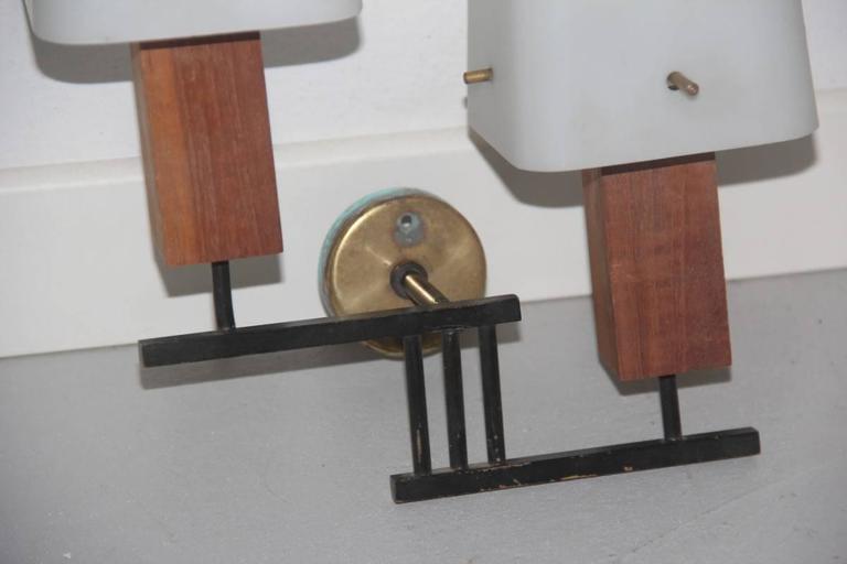 Metal Esperia Pair of Wall Sconces Mid-Century Italian Design For Sale