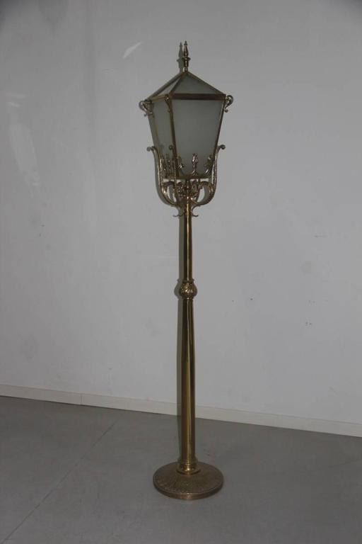Big floor lamp lantern mid century italian design brass sculpture mid century modern big floor lamp lantern mid century italian design brass sculpture for aloadofball Images
