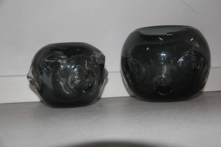Mid-20th Century Vases Murano Glass 1960 Ashlar Massive Seguso Attributed For Sale