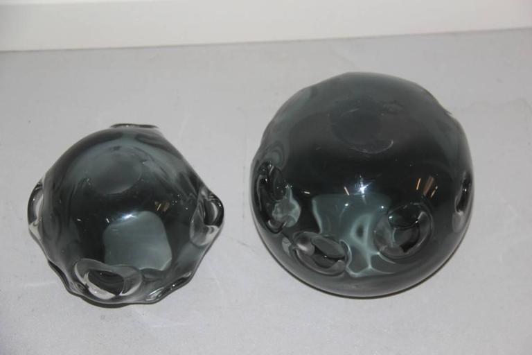 Vases Murano Glass 1960 Ashlar Massive Seguso Attributed For Sale 2