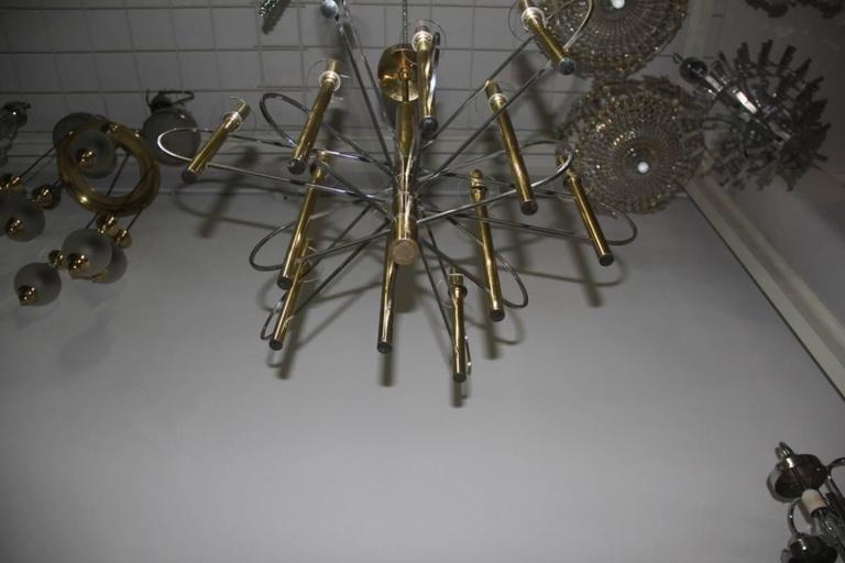 Sculptural Sciolari Chandelier Italian, Design 1970 For Sale 1