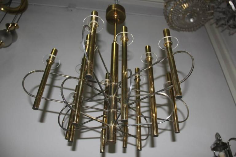 Sculptural Sciolari Chandelier Italian, Design 1970 For Sale 2