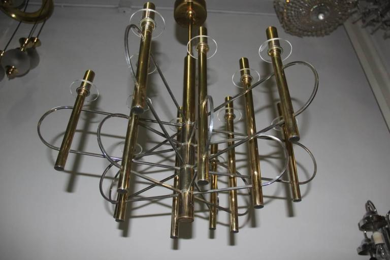 Sculptural Sciolari Chandelier Italian, Design 1970 For Sale 4