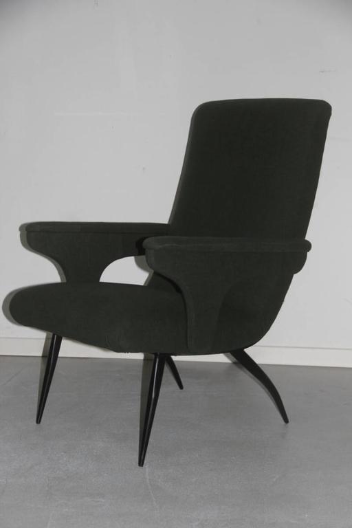 Mid-Century Modern Pair of Armchairs Minotti Gigi Radice, 1950 For Sale