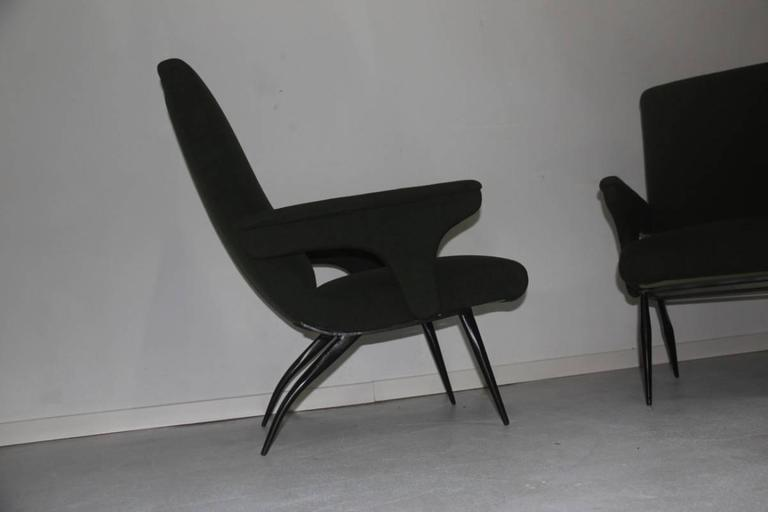 Pair of Armchairs Minotti Gigi Radice, 1950 In Excellent Condition For Sale In Palermo, Sicily