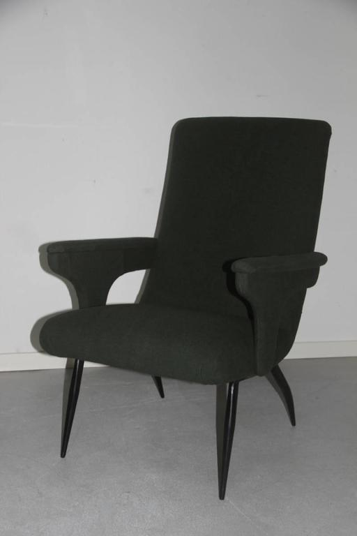 Mid-20th Century Pair of Armchairs Minotti Gigi Radice, 1950 For Sale