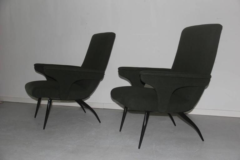 Pair of Armchairs Minotti Gigi Radice, 1950 For Sale 1