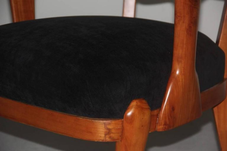 Mid-Century Modern Presidential Armchair Cherry 1950s Italian Design Melchiorre Bega Style  For Sale