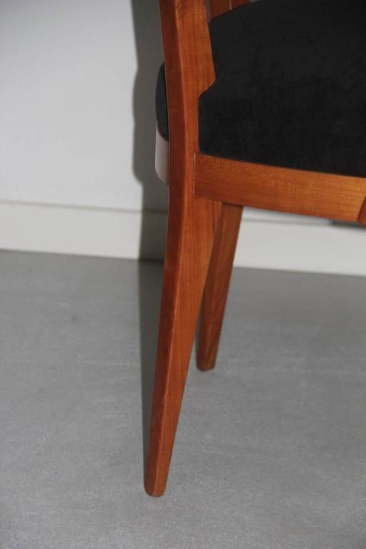 Presidential Armchair Cherry 1950s Italian Design Melchiorre Bega Style  For Sale 1