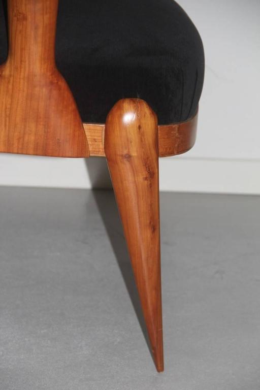 Presidential Armchair Cherry 1950s Italian Design Melchiorre Bega Style  For Sale 2