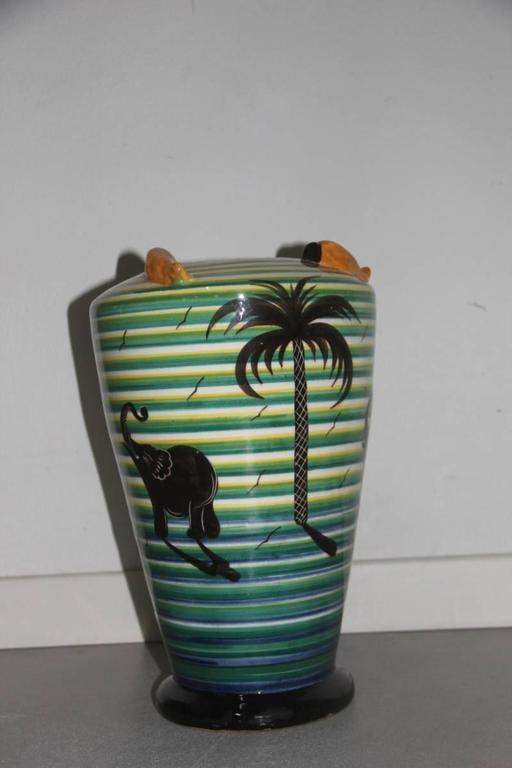 Mid-Century Modern Vase Art Deco' 1930 Corradini Futuristic Design For Sale