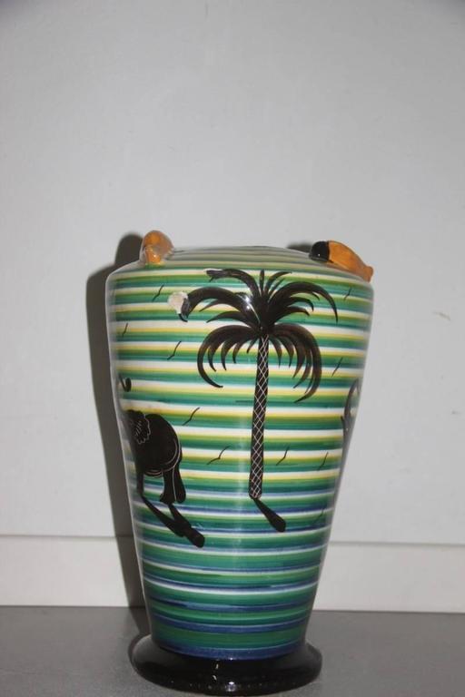 Italian Vase Art Deco' 1930 Corradini Futuristic Design For Sale