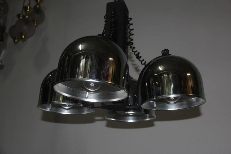Mid-Century Modern Ceiling Lamp steel metal lacquered  Italian Design 1970 For Sale