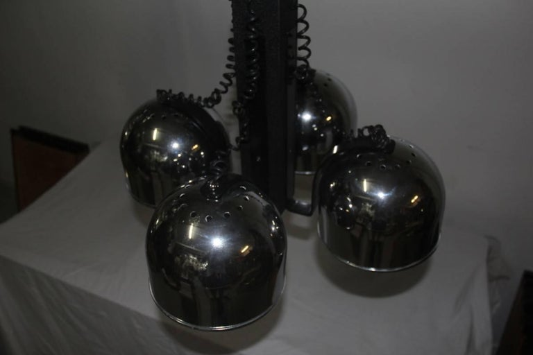 Metal Ceiling Lamp steel metal lacquered  Italian Design 1970 For Sale