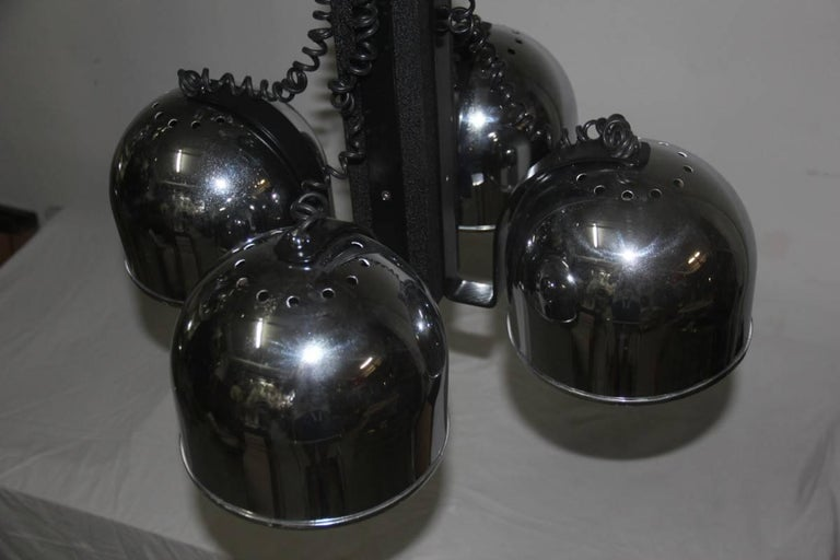 Ceiling Lamp steel metal lacquered  Italian Design 1970 For Sale 3