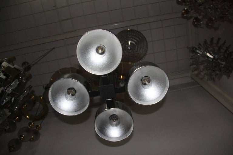 Ceiling Lamp steel metal lacquered  Italian Design 1970 For Sale 4