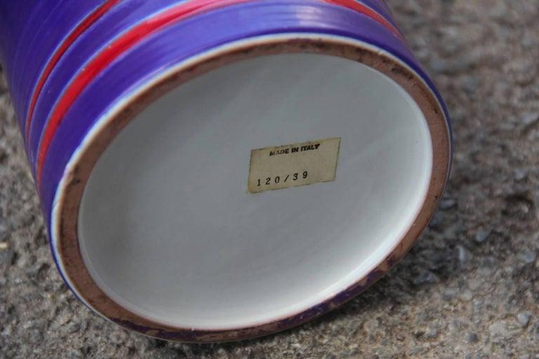 Ceramic Colored Italian Design Bottle, 1960 For Sale 1