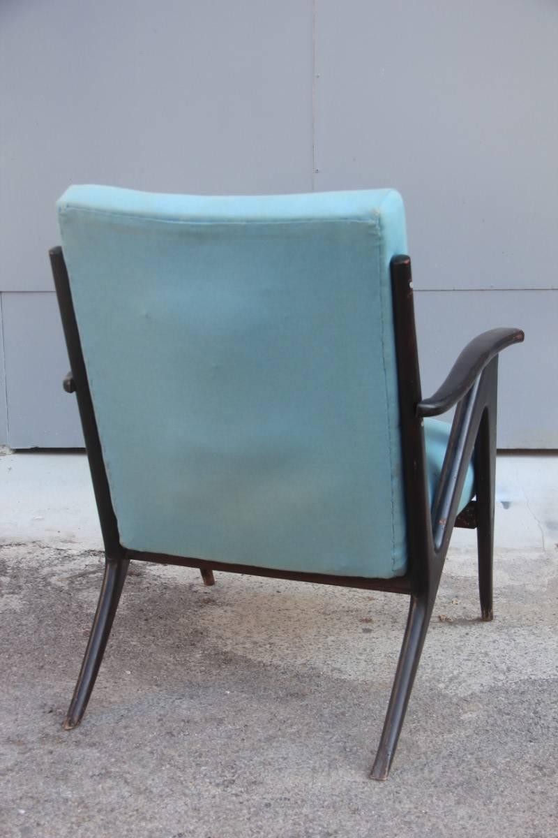 Wood Particular Original Old Armchair, 1950s, Italian Design For Sale