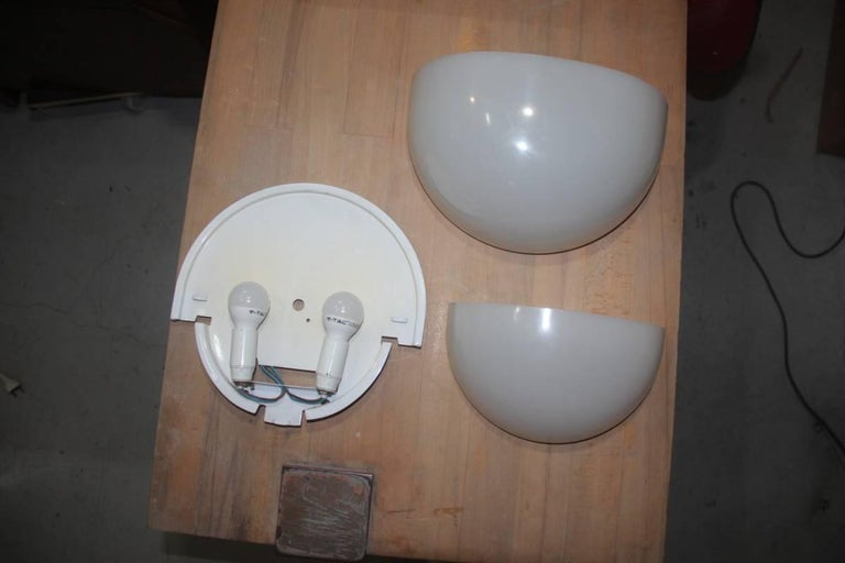 Late 20th Century Vico Magistretti Mania Sconces for Artemide, 1970 For Sale