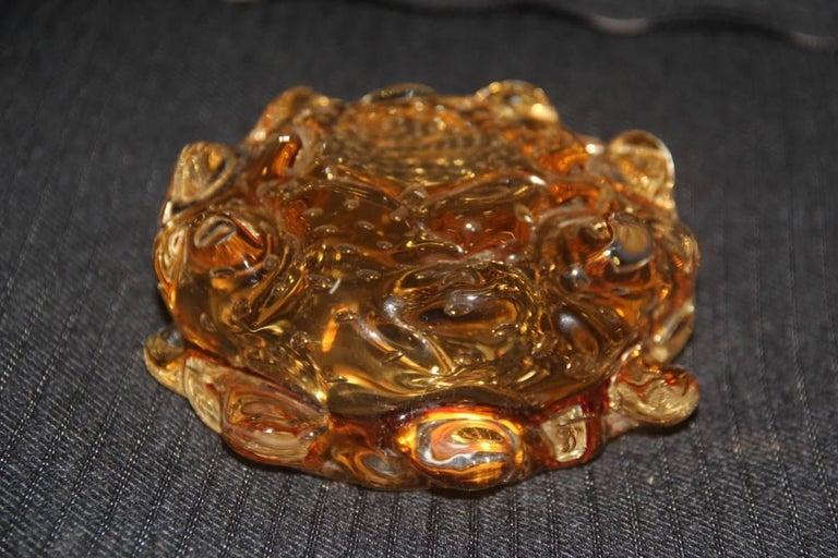 Yellow Murano Art glass bowl Italian design, 1940s. Attributed Barovier.