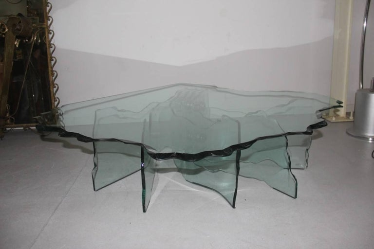 Sculpture table coffee Cristall Danny Lane for Fiam, 1980