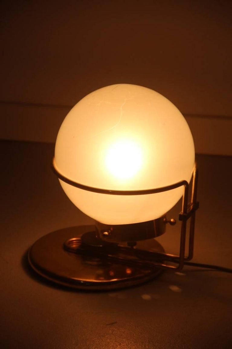 Italian Table Lamp Brass and Glass Valenti Design 1970 For Sale 4