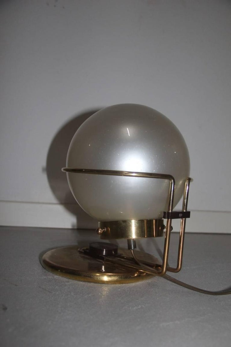 Italian Table Lamp Brass and Glass Valenti Design 1970 For Sale 3