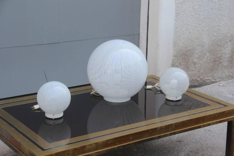 Lamps VeArt Design Italian 1970 Triptych For Sale 1