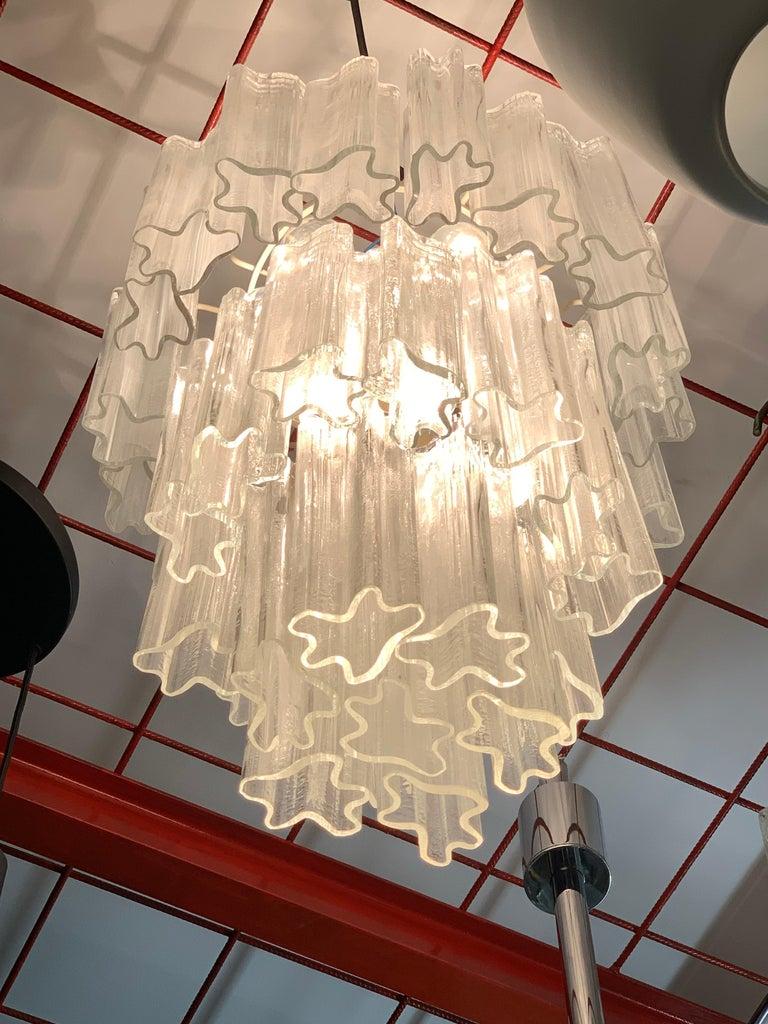 Venini Chandelier Mid-Century Modern Italian Design Murano Glass 1950  For Sale 3