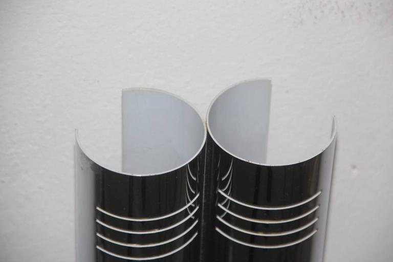 Late 20th Century Minimal Wall Sconces Steel Curved, 1970s For Sale