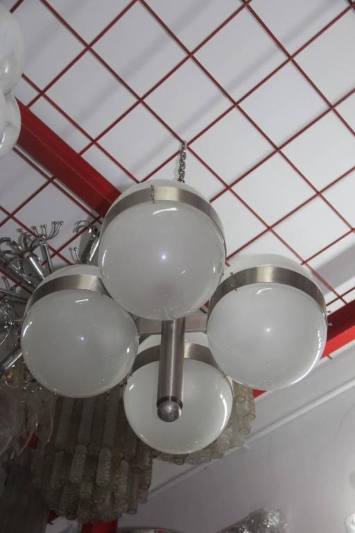 Steel Sergio Mazza Chandelier Artemide 1960s Italian Design