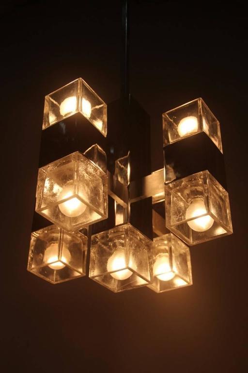 Sciolari minimal sculpture chandelier 1970 cube design for for Minimal art 1970