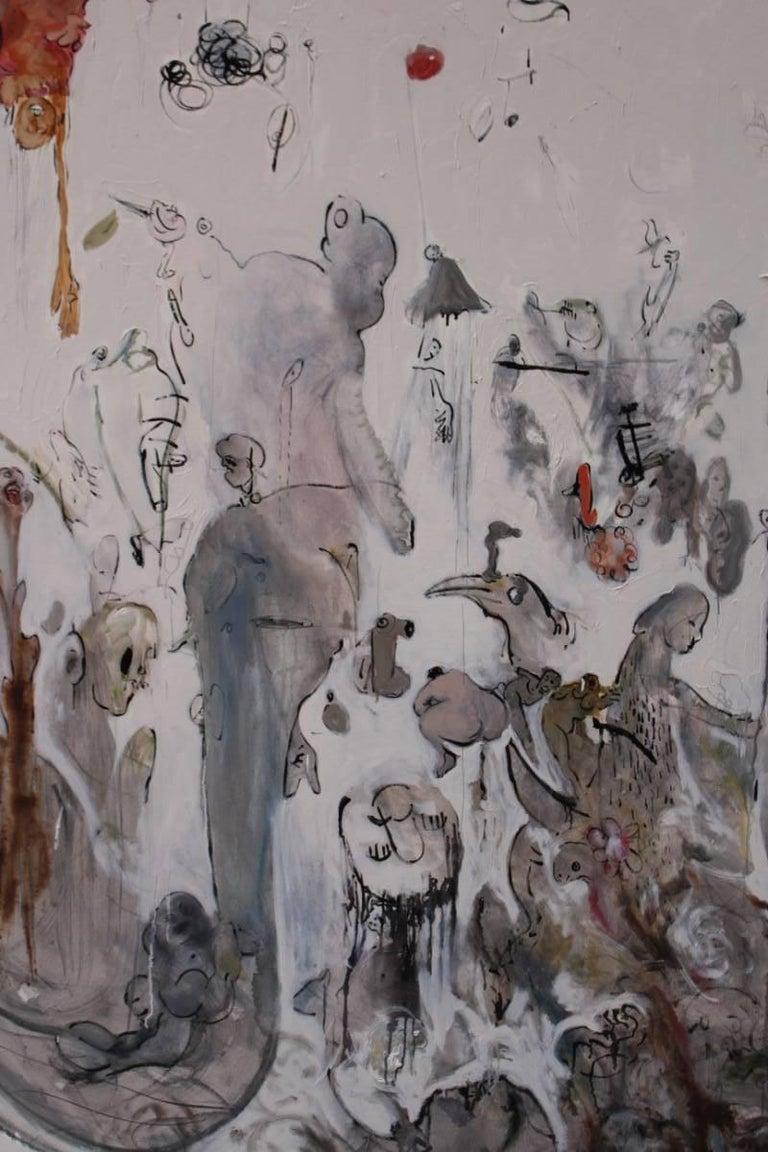 Ignazio Schifano Contemporary Sicilian Artist Oil Painting on Canvas For Sale 1