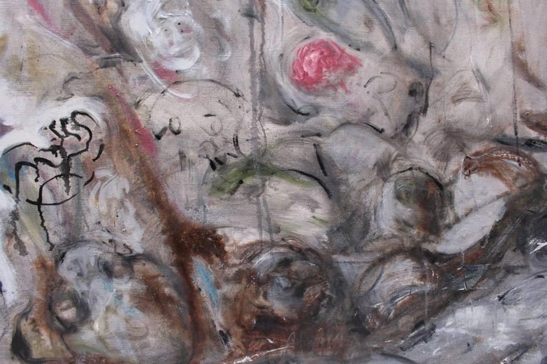 Ignazio Schifano Contemporary Sicilian Artist Oil Painting on Canvas In Excellent Condition For Sale In Palermo, Sicily