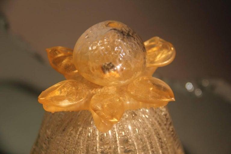 Murano Table Lamp Glass 1970s Gold Powder Italian Design  For Sale 4